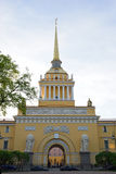 The main entrance to the Admiralty in St. Petersburg Stock Photo