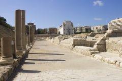 Main entrance to the Alexandria roman theater Royalty Free Stock Photo