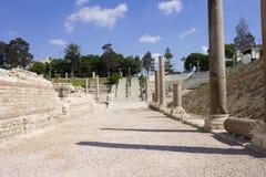 Main entrance to the Alexandria roman theater Royalty Free Stock Photos