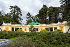 Main entrance to Arboretum Park. Sochi. Russia. Sochi, Russia - February 8, 2016: The main entrance to the Arboretum Park - Rotunda. Arboretum in Sochi - is a Stock Photo