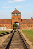 Main entrance to Auschwitz royalty free stock images