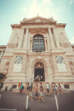 Main entrance to the building of the Oceanographic Museum Royalty Free Stock Images