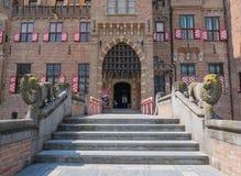 Main entrance to Castle De Haar, The Netherlands Stock Photos