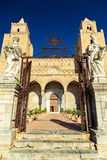 Main entrance to the Cathedral of Cefalu Stock Photography