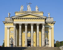 Main entrance to the Cathedral in Eger. Royalty Free Stock Photo