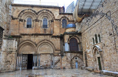 Main entrance to the Church of the Holy Sepulchre Royalty Free Stock Photography