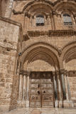 Main entrance to the Church of the Holy Sepulchre Royalty Free Stock Images