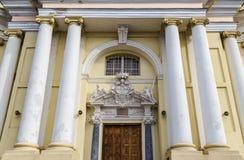 Main entrance to the Church of Saints Peter Stock Photos