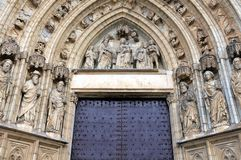 Main entrance to the Church Stock Photography