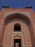 Main Entrance to Emperor Akbar's Tomb, Agra. The tomb of Mughal Emperor Akbar is one of the many Mughal Architectural highlights to be seen in Agra. The richness Royalty Free Stock Photo