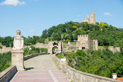 The main entrance to the fortress Tsarevets in Veliko Tarnovo Royalty Free Stock Images