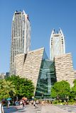 The main entrance to the Guangzhou Library, China royalty free stock photography