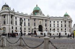 Main entrance to Hofburg palace in Vienna Royalty Free Stock Photos