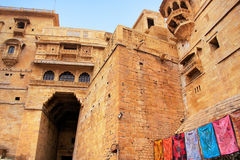 Main entrance to Jaisalmer fort, India Stock Photo
