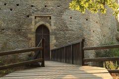 Main entrance to Kokorin castle Stock Photography