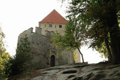 Main entrance to Kokorin castle Royalty Free Stock Images
