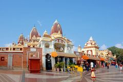 The main entrance to the Laxmi Narayan Temple. Is BIRLA TEMPLE in Delhi Royalty Free Stock Photos