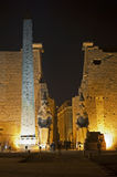 Main entrance to Luxor Temple Stock Images