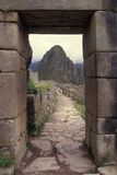 Main Entrance to Machu Picchu, Peru Stock Photos