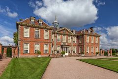 Hanbury Hall, Worcestershire, England. The main entrance to the magnificent Hanbury Hall which was built in the William and Mary style for Thomas Vernon in the Royalty Free Stock Image