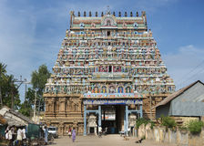Main entrance to the Mahalingeswarar Temple. Stock Photography