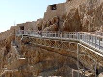 Main entrance to Masada citadel Royalty Free Stock Photography