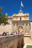 The main entrance to Mdina, the Main Gate and the Mdina Gate Bri Royalty Free Stock Photography
