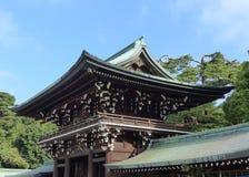 Main entrance to the Meiji Jingu, Tokyo. Meiji Jingu is a Shinto shrine in Tokyo, dedicated to the deified spirits of Emperor Meiji and his wife, Empress Shō stock photos