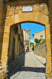 Main entrance to Monastery of Pedralbes Royalty Free Stock Image