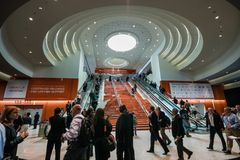 Main entrance to  Oracle OpenWorld conference in Moscone convention center Royalty Free Stock Photo