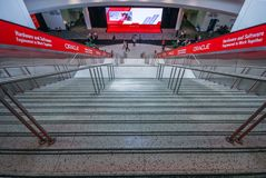 Main entrance to  Oracle OpenWorld conference in Moscone convention center Stock Images