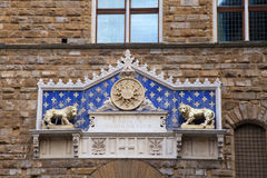 Main entrance to Palazzo Vecchio in Florence, Italy Stock Photos