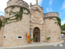 Main entrance to the Poble Espanyol Palma de Mallorca Royalty Free Stock Image