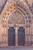 Main Entrance to Prague Saint Vitus Cathedral Stock Images