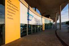 Main Entrance to  SAP TechEd 2015 conference at Fira Barcelona Royalty Free Stock Photos