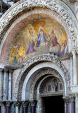 Main entrance to st mark's basilica Stock Image