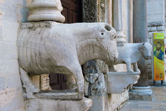Main Entrance to the St. Nicholas Basilica. Bari. Apulia. Royalty Free Stock Photography