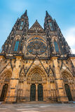 Main entrance to the St. Vitus cathedral in Prague Castle Stock Photos