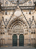 Main entrance to St. Vitus Cathedral Royalty Free Stock Photos