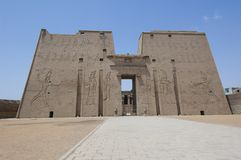 Main entrance to the temple at Edfu Royalty Free Stock Image