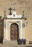 Main entrance to the town. Obidos. Portugal Stock Photos