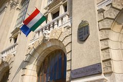 Main entrance of University Stock Photo