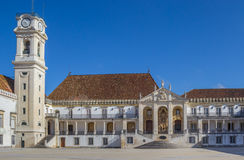 Main entrance of the university of Coimbra Stock Photography