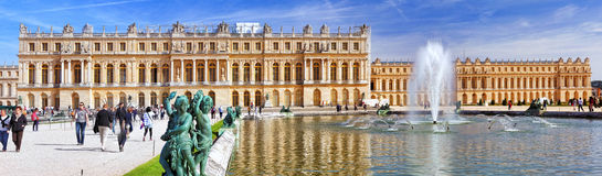 Main entrance of Versailles Palac Stock Photos