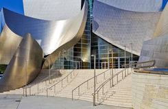 Main Entrance of the Walt Disney Concert Hall. Los Angeles, USA - August 8, 2011: Facade and main entrance of the Walt Disney Concert Hall in downtown Los Royalty Free Stock Image