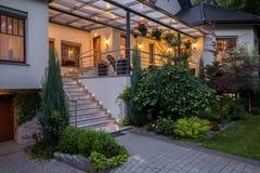 Free Main Entry To Luxurious House Stock Photo - 69578680