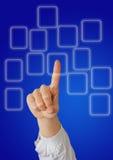 Main et bouton Image libre de droits