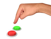 Main et boutons Photo libre de droits
