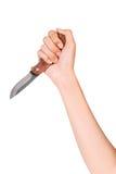 Main et couteau Photo stock