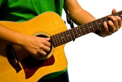 Main et guitare Photographie stock libre de droits